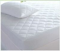Quilted Mattress Protector Topper Fitted Cover Double Single Super King 4ft