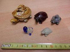 Lotto di 5 TARTARUGA in ceramica vetro pasta e pietra Collezione raccolta epoca