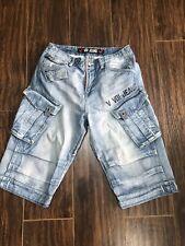 Men's Voi Long Jeans Shorts, Heavy Quality Size 30