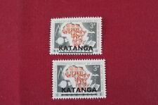 Katanga. Scott 4-5. MNH. Only 6,195 sets issued.
