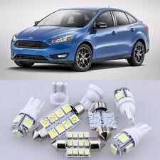 9×Xenon White LED Interior Light Package Kit for Ford Focus 2012-2015