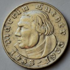 Germany 2 Mark 1933 A, Martin Luther, Silver coin