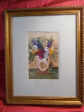 Original Floral Oil Painting by Anna Sandhu Ray, wife of the late James Earl Ray