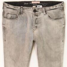 Mens River Island Skinny Grey Jeans W34 L32