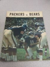 1968 Chicago Bears VS Green Bay Packers Official Program Vince Lombardi Piccolo