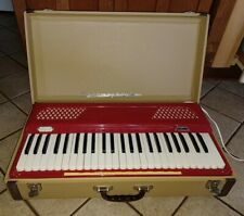 Vtg 1950s Koestler Harmophone Suitcase Organ Keyboard w/ Hardcase WORKS TESTED