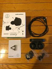 Audio-Technica ATH-SPORT7TW SonicSport Wireless Bluetooth Headphones, Black