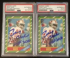 Jerry Rice Signed/Auto 1986 Topps RC RP PSA Slabbed Autographed HOF 2010   Mint