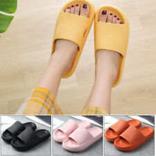 Solid Color Thick Soled Bathing Slippers Home Slippers Beach Shoes Super Soft