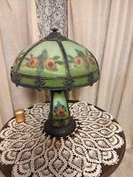 Vintage reverse painted table lamp