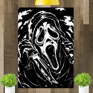 Scream Ghostface Horror Movie Wes Craven Canvas Wall Art Print Picture Framed