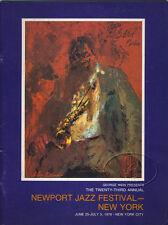 Tony Bennett Muddy Waters 1976 Newport Jazz Festival Concert Program