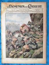 La Domenica del Corriere 4 luglio 1915 WW1 Alpini - Dirigibile Divaccia - Isonzo