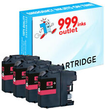 4 Compatible Magenta Printer Ink Cartridges Replace Brother LC123M