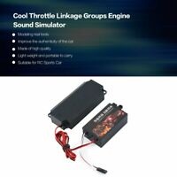 Cool Throttle Linkage Groups Engine Sound Simulator for RC Sports Car Model
