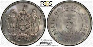 British North Borneo 5 cent 1928 H GEM uncirculated PCGS MS66