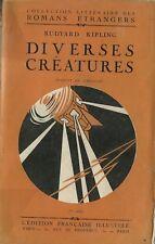 RARE EO 1919 RUDYARD KIPLING + DARAGNÈS + FANTASTIQUE : DIVERSES CRÉATURES