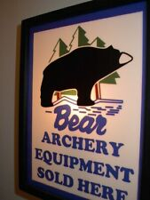 Bear Archery Bow Hunting Bar Man Cave Lighted Advertising Sign