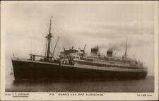 Steamship MS Marnix Van Sint Aldegonde c1920 Real Photo Postcard