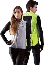 Womens Mens Cycling Gilet Water Resistant Full Zip Sleeveless Body Jacket White