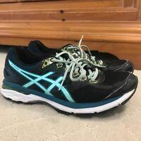 ASICS GT-2000 Women's Size 9.5 Running Shoes Black Blue
