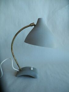 alte Tischlampe Schrumpflack 50er 60er Jahre Design