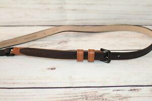 Country Road Brand Black & Tan Skinny Belt Size S #BEL3