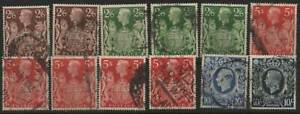 GREAT BRITAIN #sg476-478a (sc249-51a) 1939 2/6d to 10/- Used