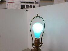 Lot of 4 GE ceramic GREEN 60 WATT LIGHT BULB  vintage NEW