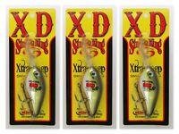 "(3) Strike King 8XD 5 1/2"" Xtra Deep Crankbaits 1.3 Oz Silver TN Shad Brand New"