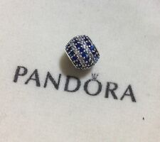 """Charm """" Sfera In Pavè Righe Blu """" Pandora"""