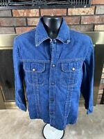 Vintage Dee Cee Rappers Denim Blue Jean Trucker Farm Jacket Womens Size Large