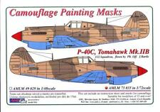 AML Models 1/72 CURTISS P-40C TOMAHAWK Mk.IIB Camouflage Paint Mask Set