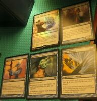 Mono Blue Auras EDH Commander Lot, NM-MP, Enchantments Draw Card Heroic