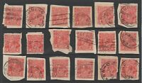 Australia - KGV - 45-pack - two pence (2d) red - used - on-paper