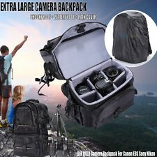 NEW Shockproof DSLR Camera Backpack Rucksack Bag Case For Canon EOS Nikon Sony