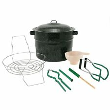 8 Piece 21.5 Quart Water Bath Canner Set Complete Home Canning Starter Tool Kit