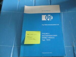 Pye TED6 Amateur Radio Manual Encode / Decode (Reference 96/08/2020)