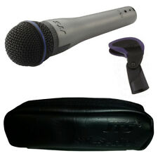 JTS SX-8 Pro Handheld Dynamic Wired Vocal Microphone Live Stage DJ + Clip + Case