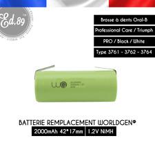 Batterie Remplacement 2000mAh Oral B Professional Care Triumph 3761 3762 3764