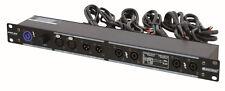 """19"""" Rackverteiler Power Con  Audio / XLR Ein und Ausgang + Speaker Ausgang 1HE"""