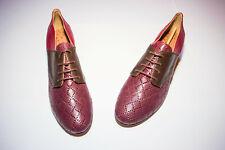 Scarpe lindy hop marca Slide&swing pelle rossa con lacci numero 40