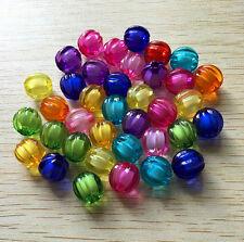 Lot 20 Perle Acrylique 10mm Citrouille Halloween potiron Couleur Mixte