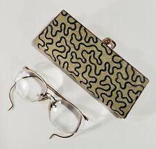 Vtg Ao American Opt. Eyeglasses & Case 1/10 12Kt Gold Filled Wire Rim Glasses