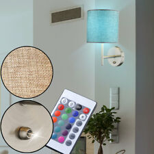RGB LED Luz De Pared Control Remoto Textil Salón ESS Iluminación de habitación