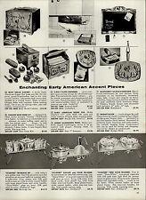 1959 PAPER AD Starfire Mid Century Modern Beverage Set Coffee Carafe Food Warmer