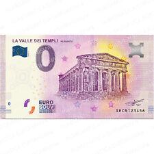 0 € ZERO EURO SOUVENIR BANCONOTA ITALIA 2020 - LA VALLE DEI TEMPLI AGRIGENTO