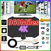 960 Mile Indoor TV Antenna Digital HDTV+Aerial Signal Amplified Booster & Cable