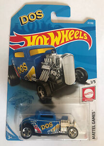2021 HOT WHEELS #27 - '32 Ford (Blue DOS - Case F Long Card) New & Unopened