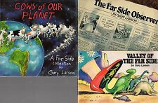 GARY LARSON BULK LOT X 3 - THE OBSERVER, VALLEY OF FAR SIDE, COWS OF OUR PLANET